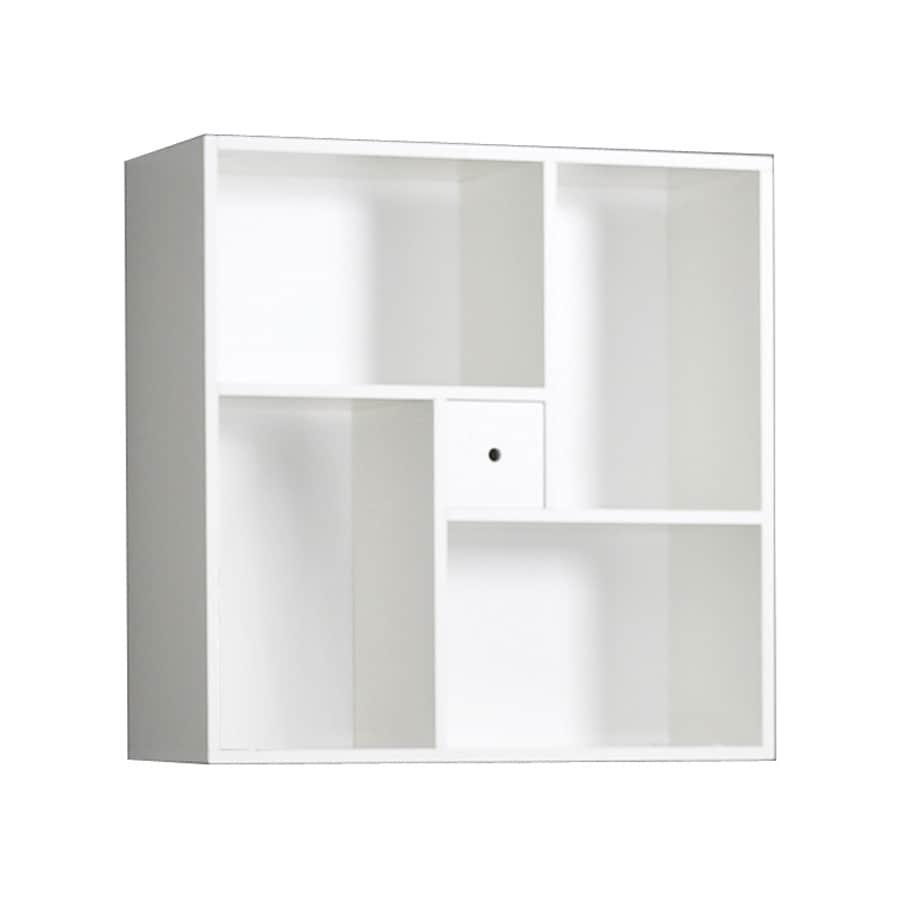 Tvilum Tracy White 29.5-in W x 30.25-in H x 11.75-in D 4-Shelf Bookcase