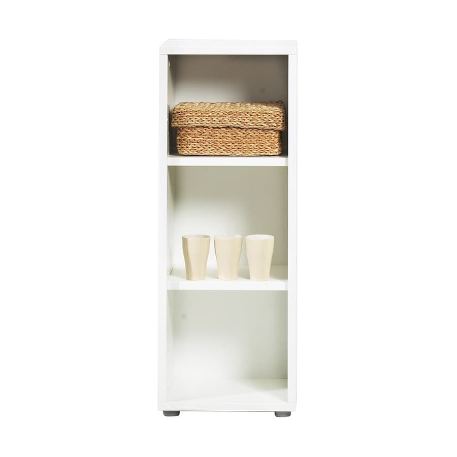 Tvilum Fairfax White 16.75-in W x 48-in H x 13.75-in D 3-Shelf Bookcase