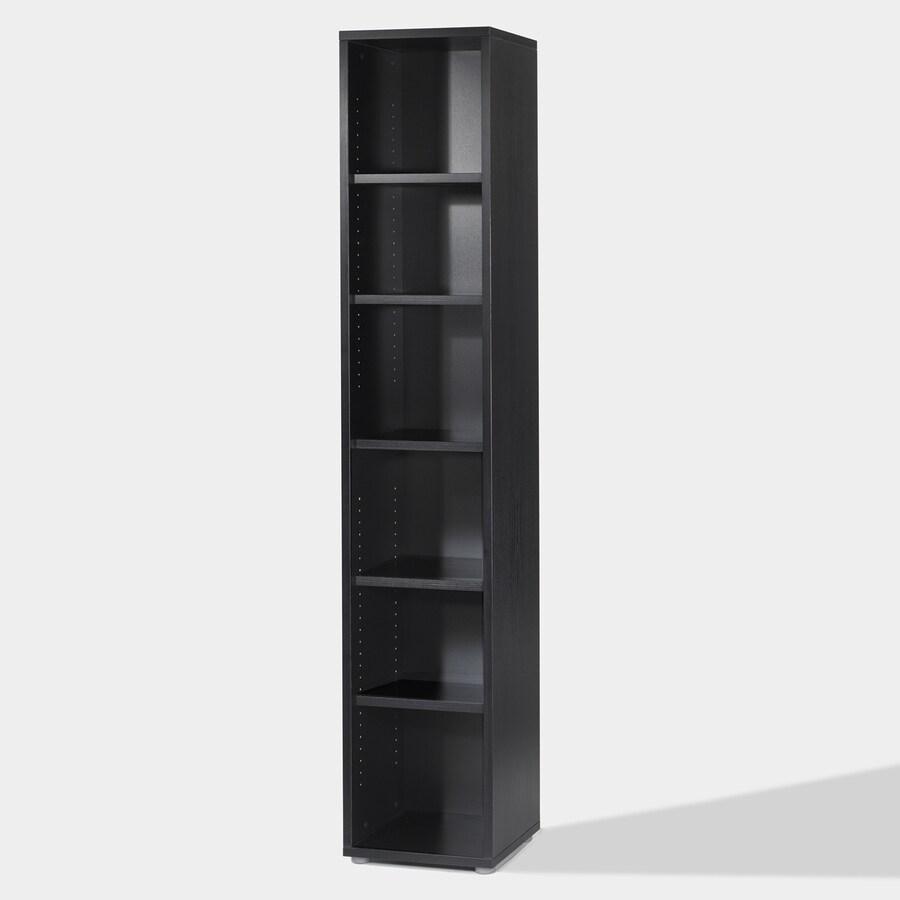 Tvilum Fairfax Black 87.25-in 6-Shelf Bookcase