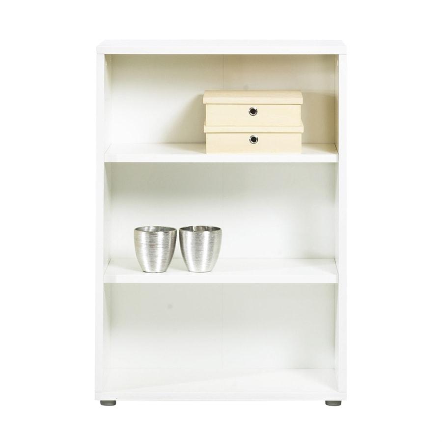 Tvilum Fairfax White 31.5-in W x 45-in H x 13.75-in D 3-Shelf Bookcase