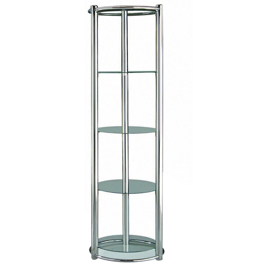 New Spec Chrome 71.85-in 4-Shelf Bookcase