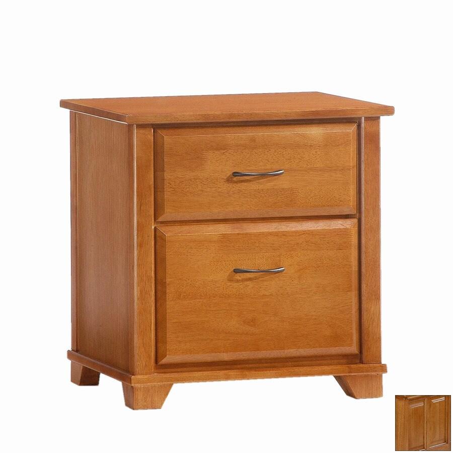 Night & Day Furniture Spices Medium Oak Nightstand