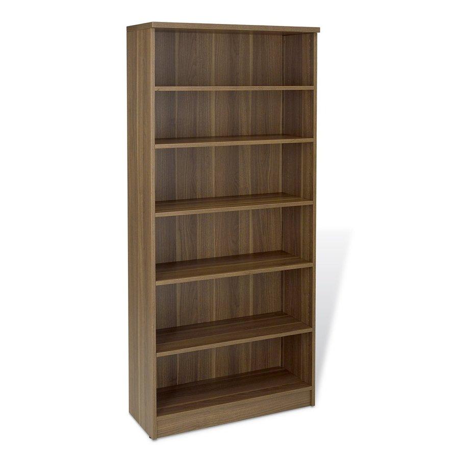 The Ergo Office Walnut 72-in 6-Shelf Bookcase