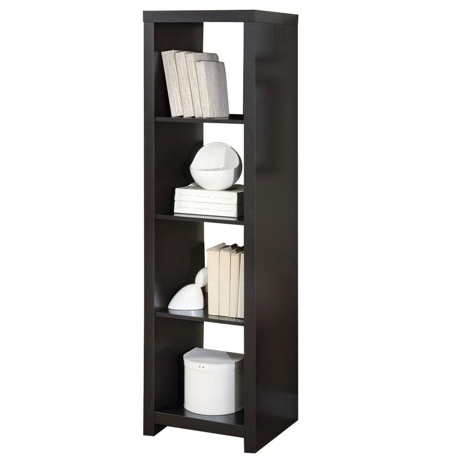 Monarch Specialties Cappuccino 17-in W x 62.5-in H x 15.75-in D 4-Shelf Bookcase