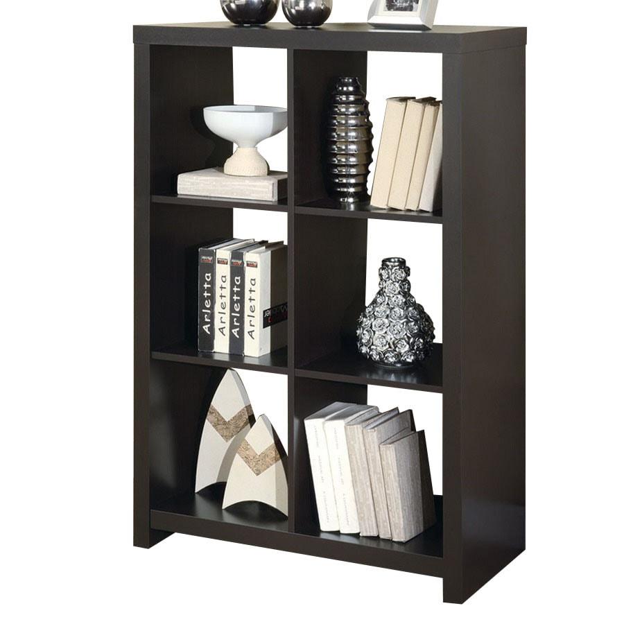 Monarch Specialties Cappuccino 48-in 6-Shelf Bookcase