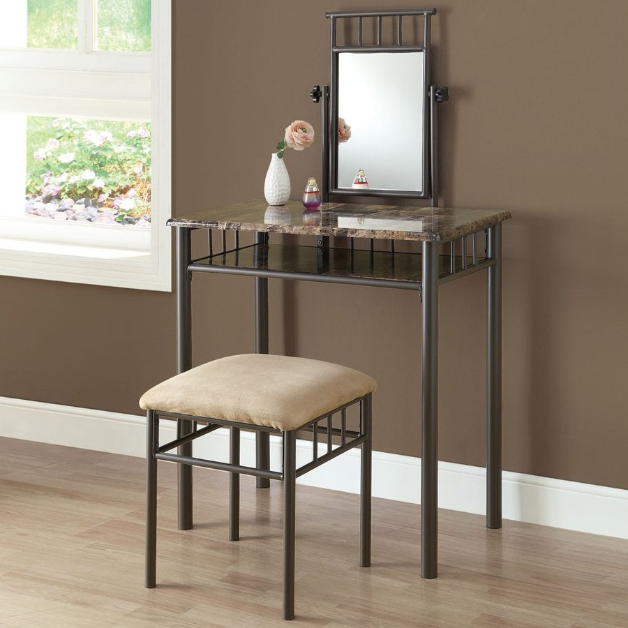 Shop Monarch Specialties Cappuccino Makeup Vanity At Lowes.com