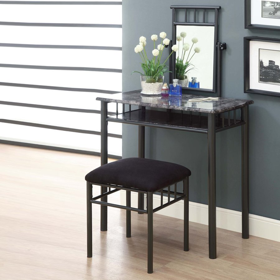 Shop Monarch Specialties Grey Makeup Vanity At Lowes.com
