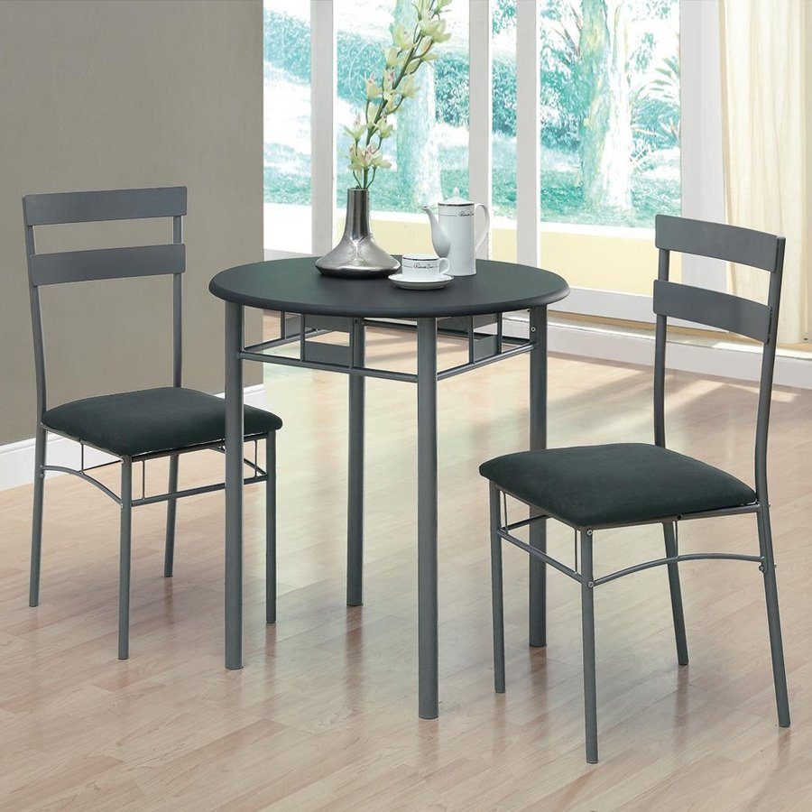 Monarch Specialties Black Dining Set Round Table