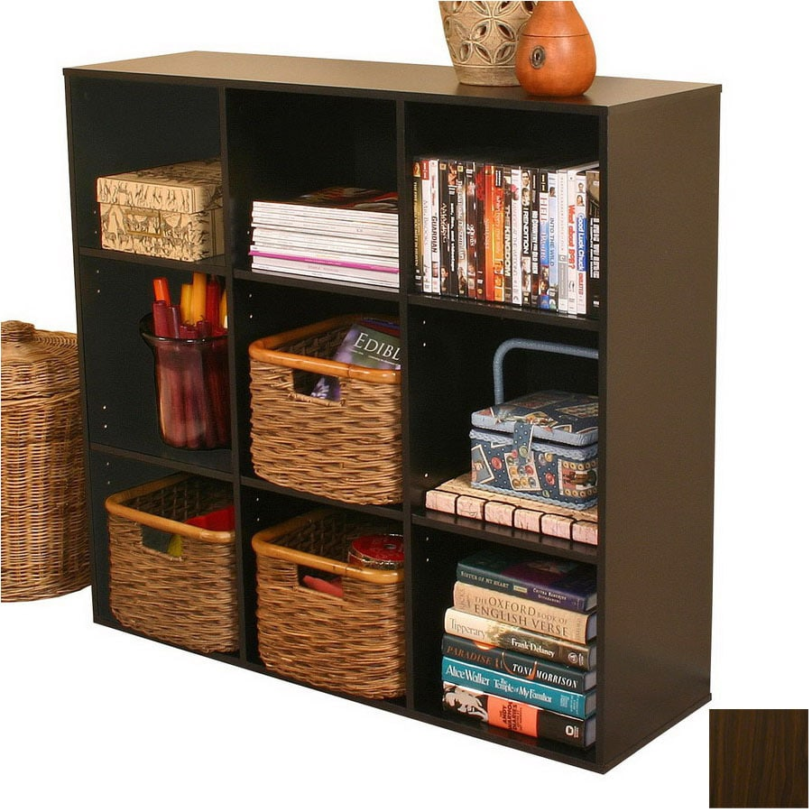 Venture Horizon Dark Walnut 39-in W x 36-in H x 11.5-in D 9-Shelf Bookcase