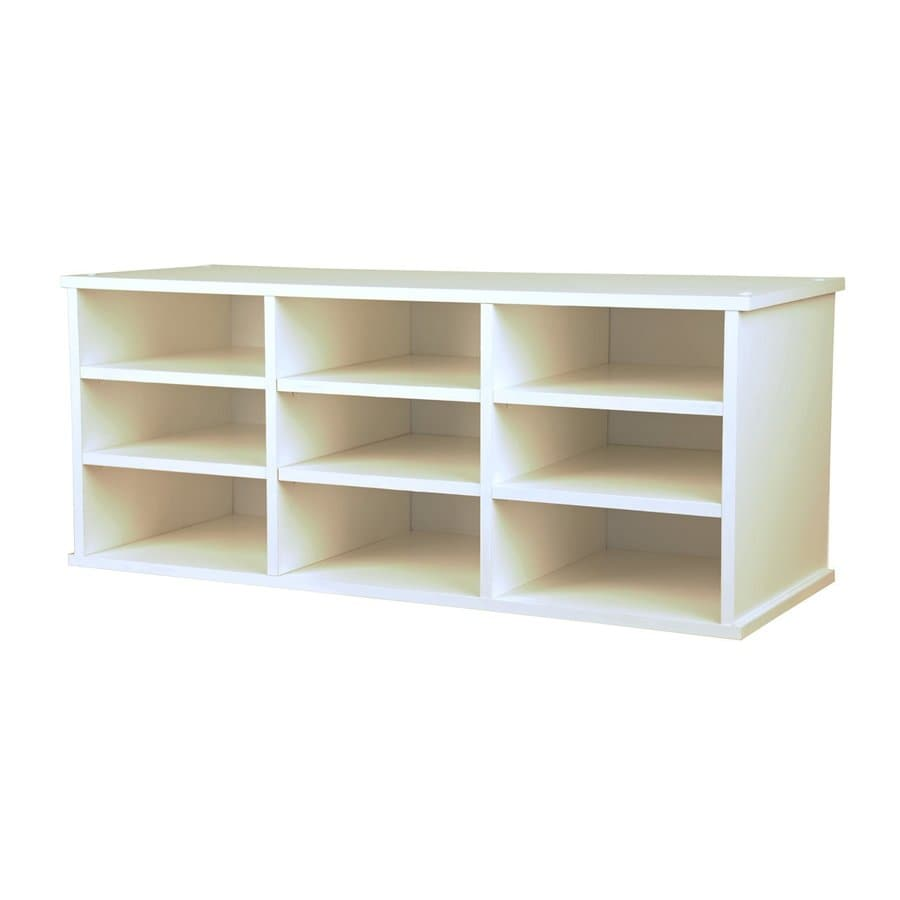 Venture Horizon White 31-in W x 13-in H x 12-in D 9-Shelf Bookcase