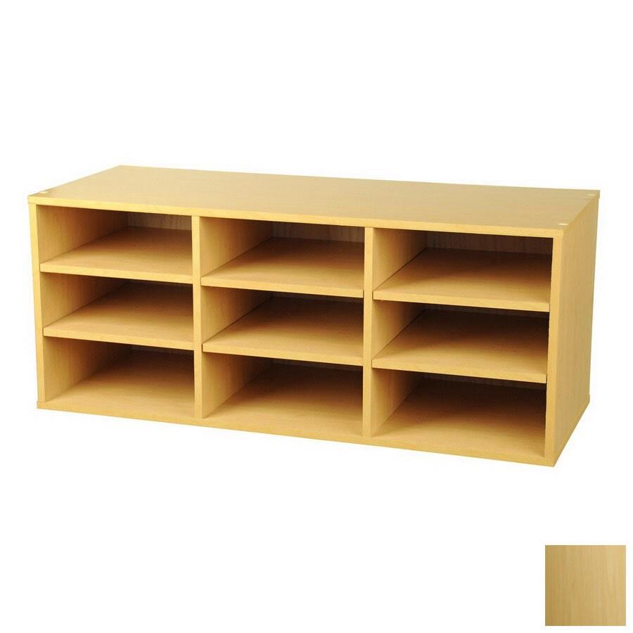 Venture Horizon Maple 31-in W x 13-in H x 12-in D 9-Shelf Bookcase