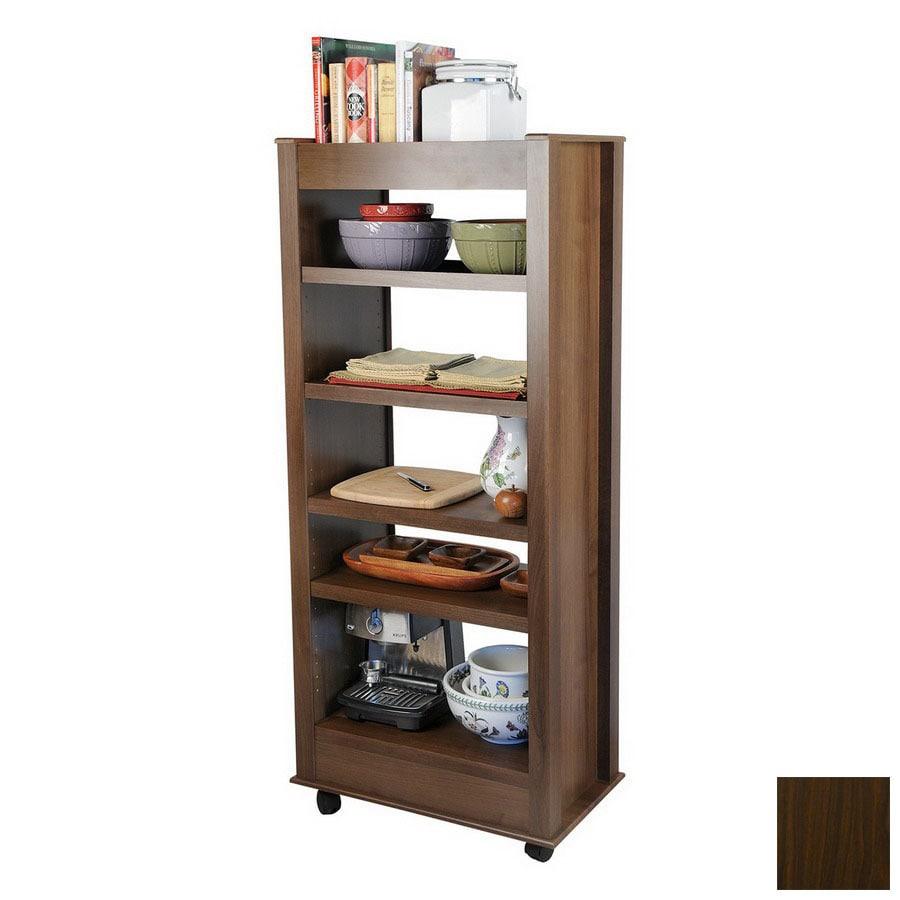 Venture Horizon Dark Walnut 59.5-in 5-Shelf Bookcase