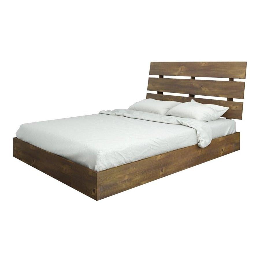 Nexera Nocce Truffle Full Platform Bed