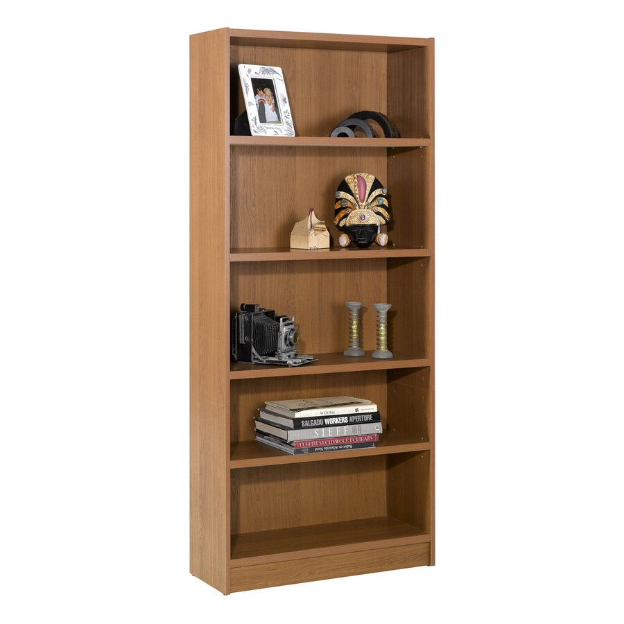 Nexera Essentials Cappuccino 71-1/2-in 5-Shelf Bookcase