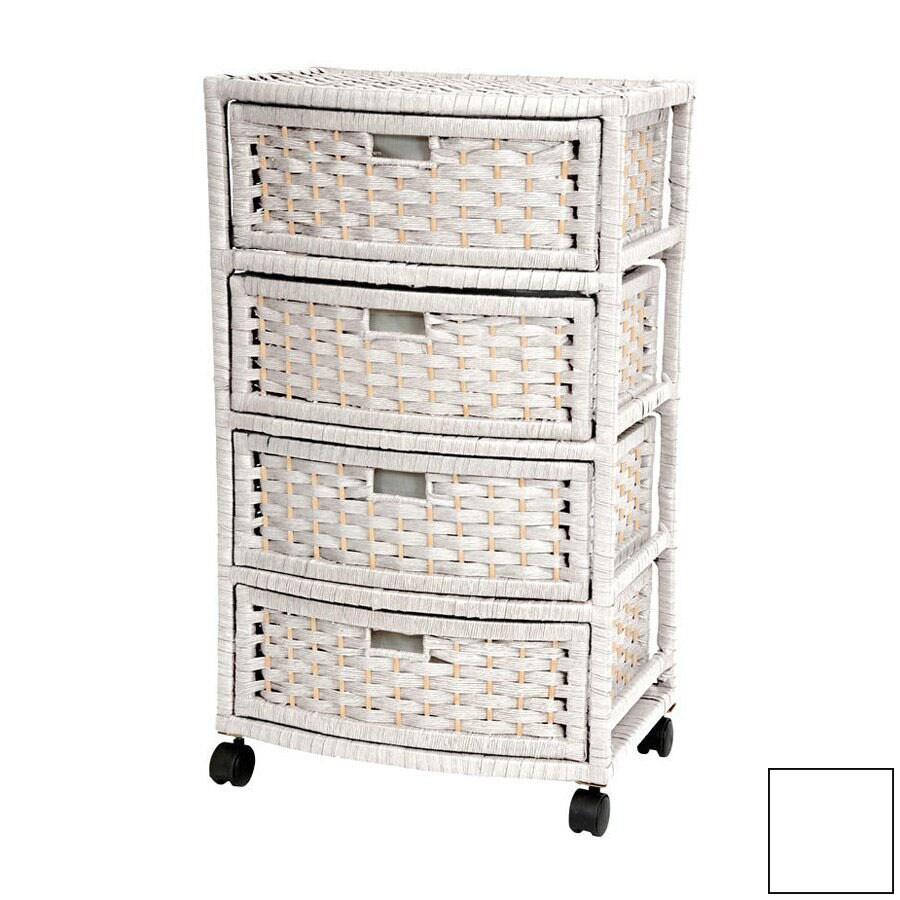 Oriental Furniture Natural Fiber White Standard Chest