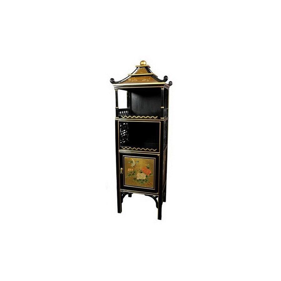 Oriental Furniture Pagoda Gold 49-in 2-Shelf Bookcase