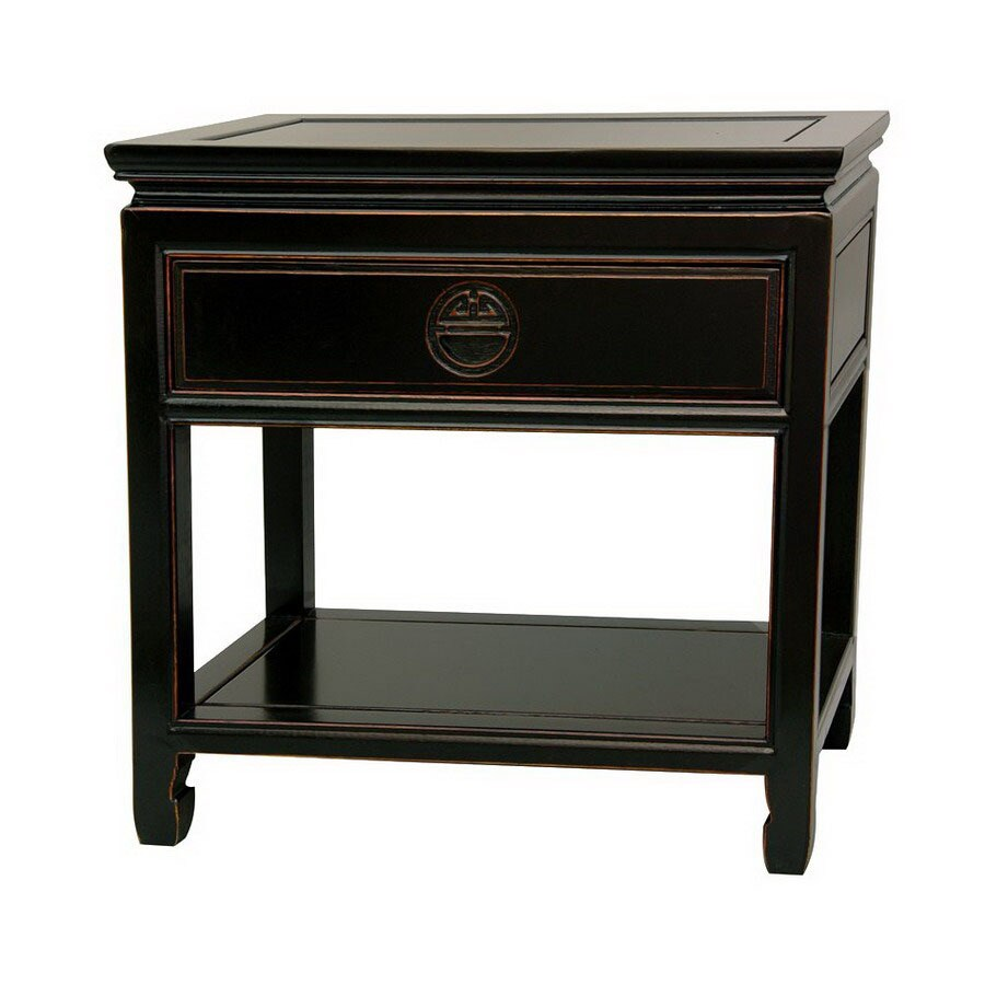 Oriental Furniture Rosewood Furniture Antique Black Rosewood Nightstand