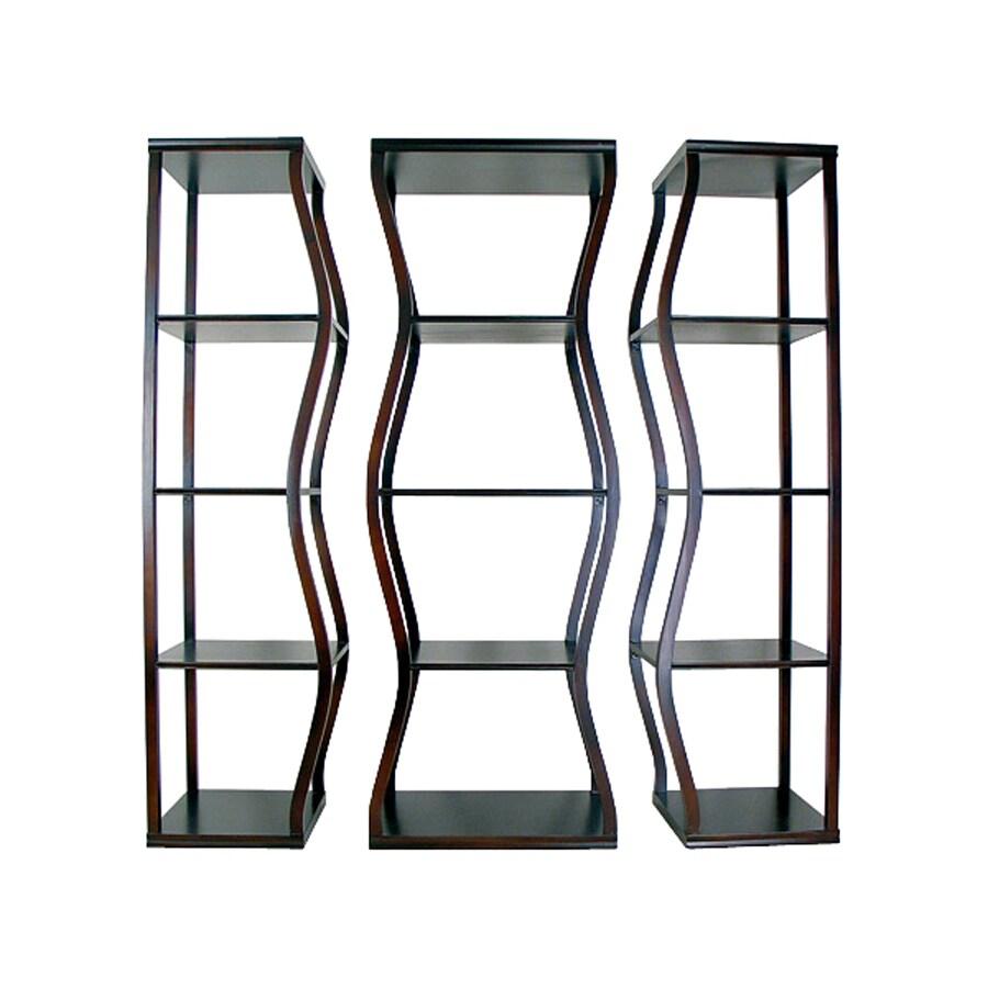 Oriental Furniture Decorative Storage Mahogany 60-in 12-Shelf Bookcase