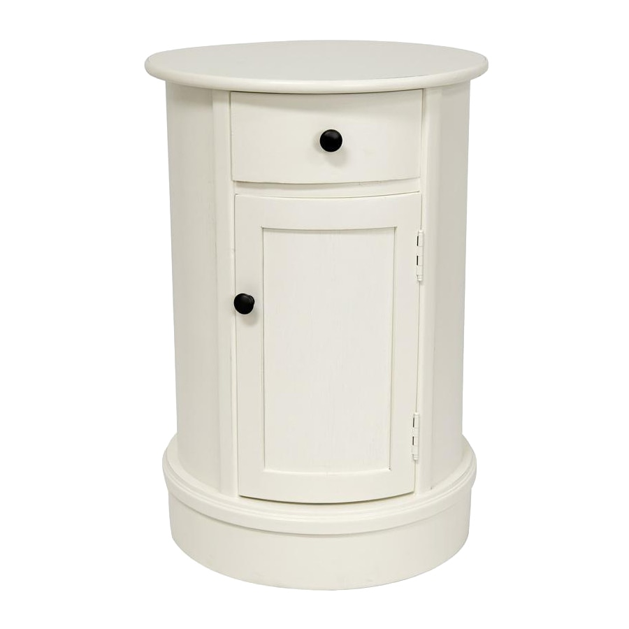Oriental Furniture Classic Design White Nightstand