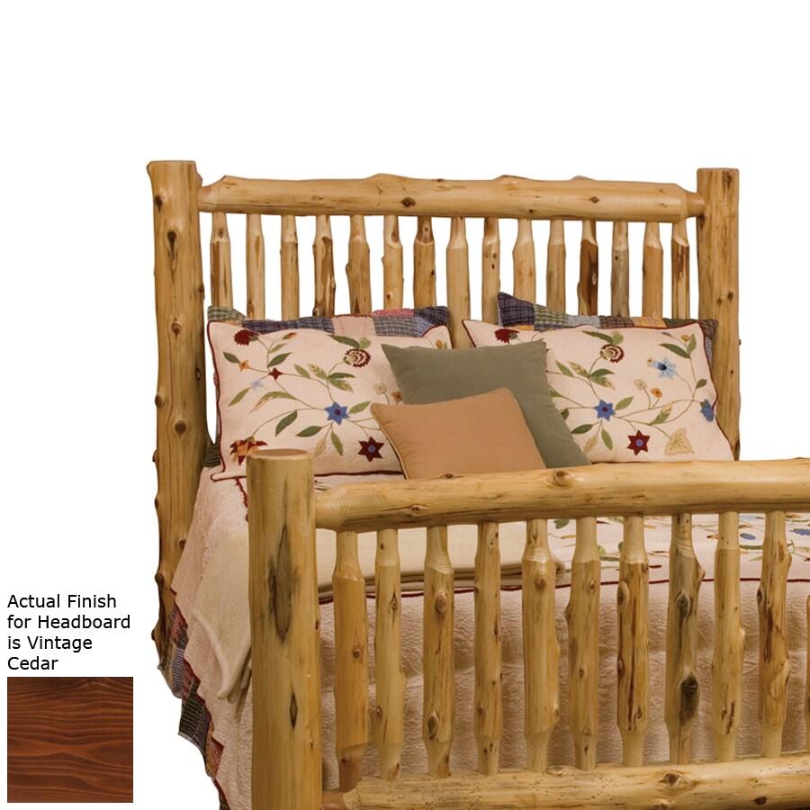 Fireside Lodge Furniture Vintage Cedar Queen Headboard