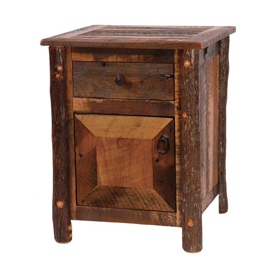 Fireside Lodge Furniture Barnwood Oak Nightstand