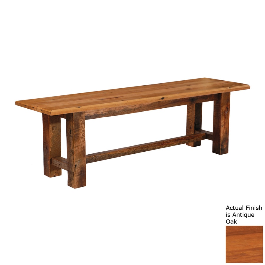 Shop Fireside Lodge Furniture Barnwood Antique Oak Indoor Accent Bench At