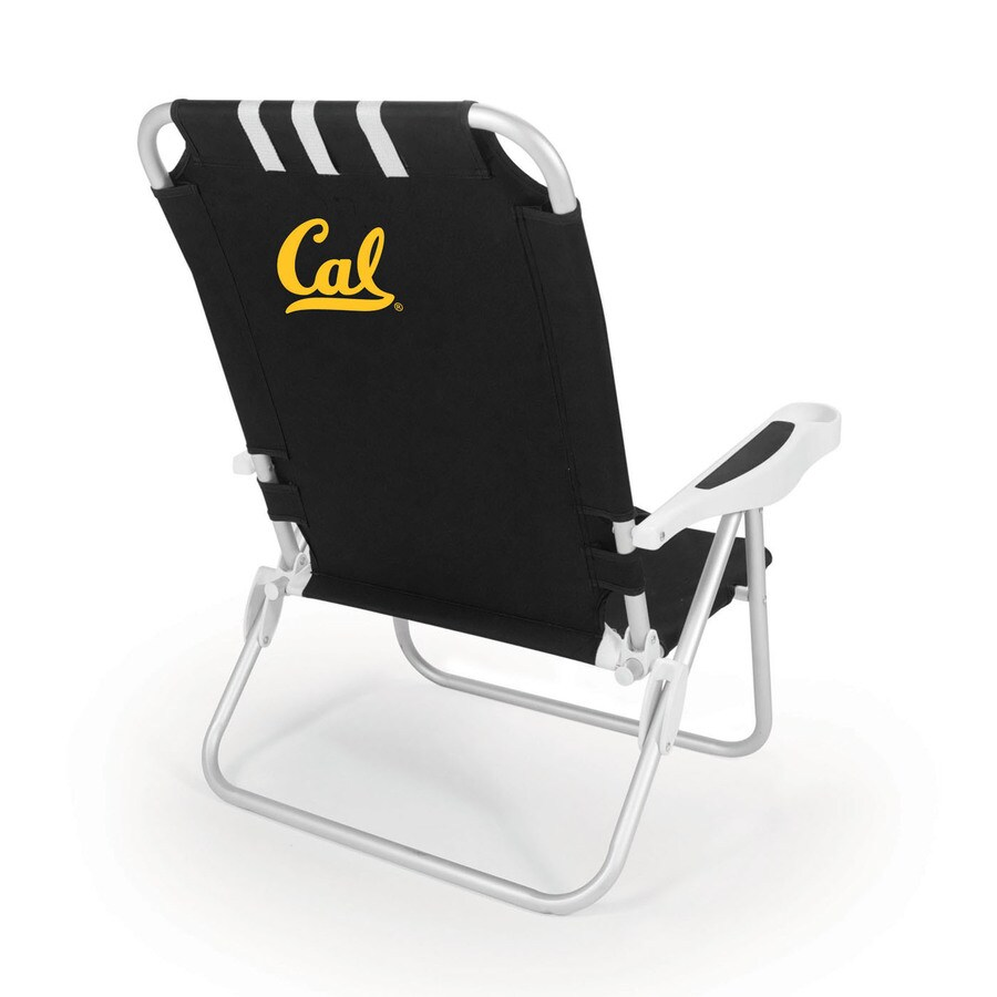 Picnic Time Black NCAA California Golden Bears Steel Folding Beach Chair