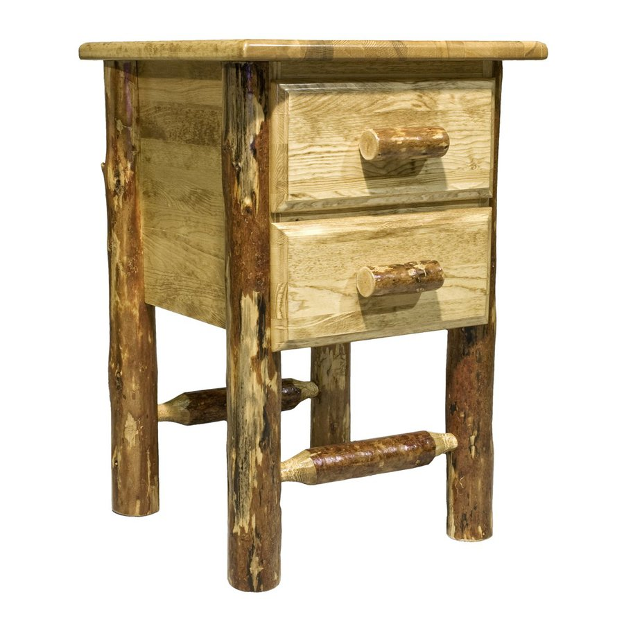 Montana Woodworks Glacier Country Stained and Lacquered Pine Nightstand