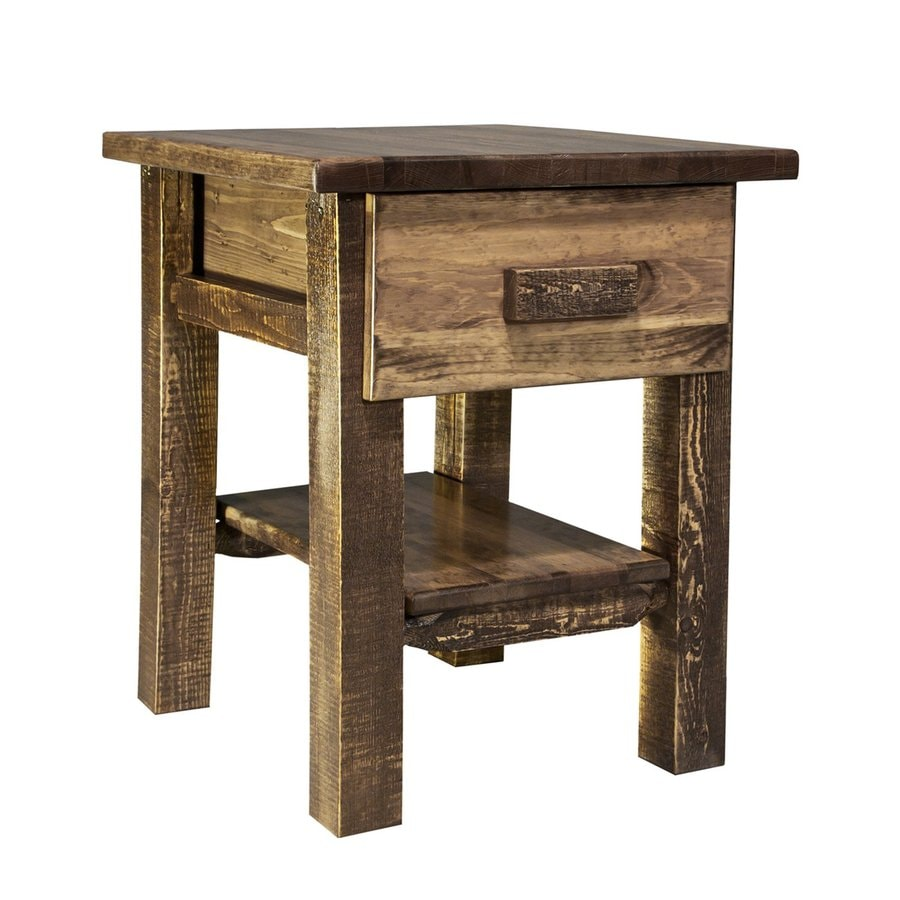 Montana Woodworks Homestead Stained and Lacquered Pine Nightstand