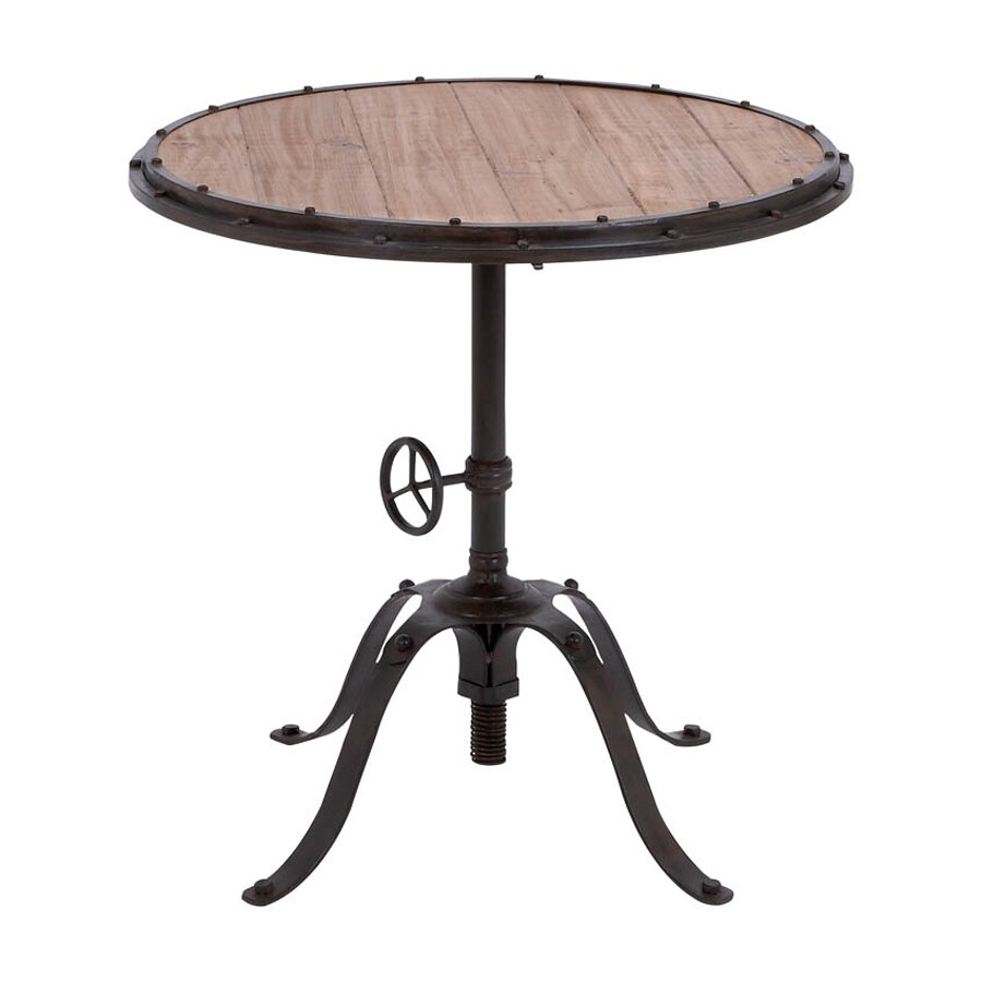 Woodland Imports Metal Round End Table