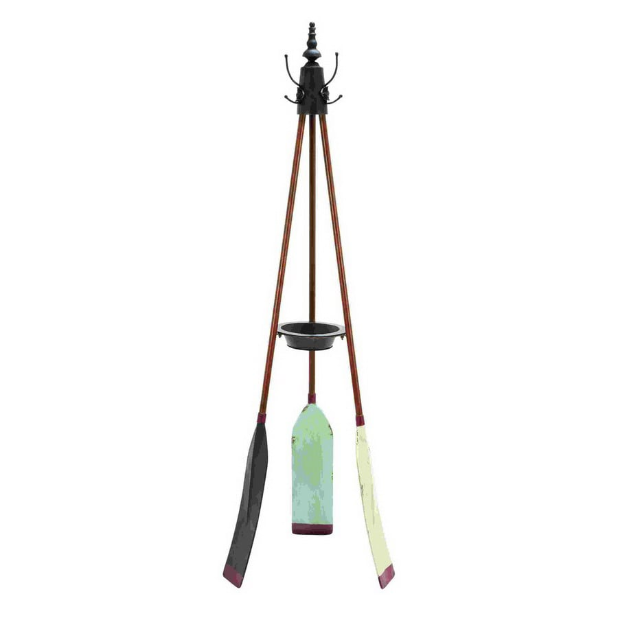 Woodland Imports Rowing Oar 4-Hook Coat Stand