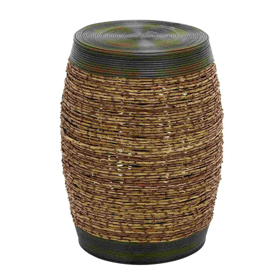 Woodland Imports Bamboo Round End Table