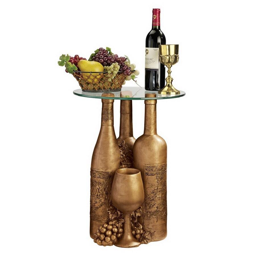 Design Toscano Faux Bronze Round End Table