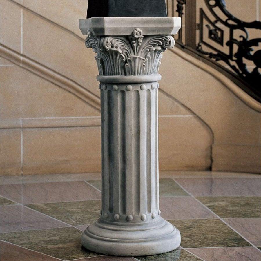 Design Toscano Antique Stone Round End Table