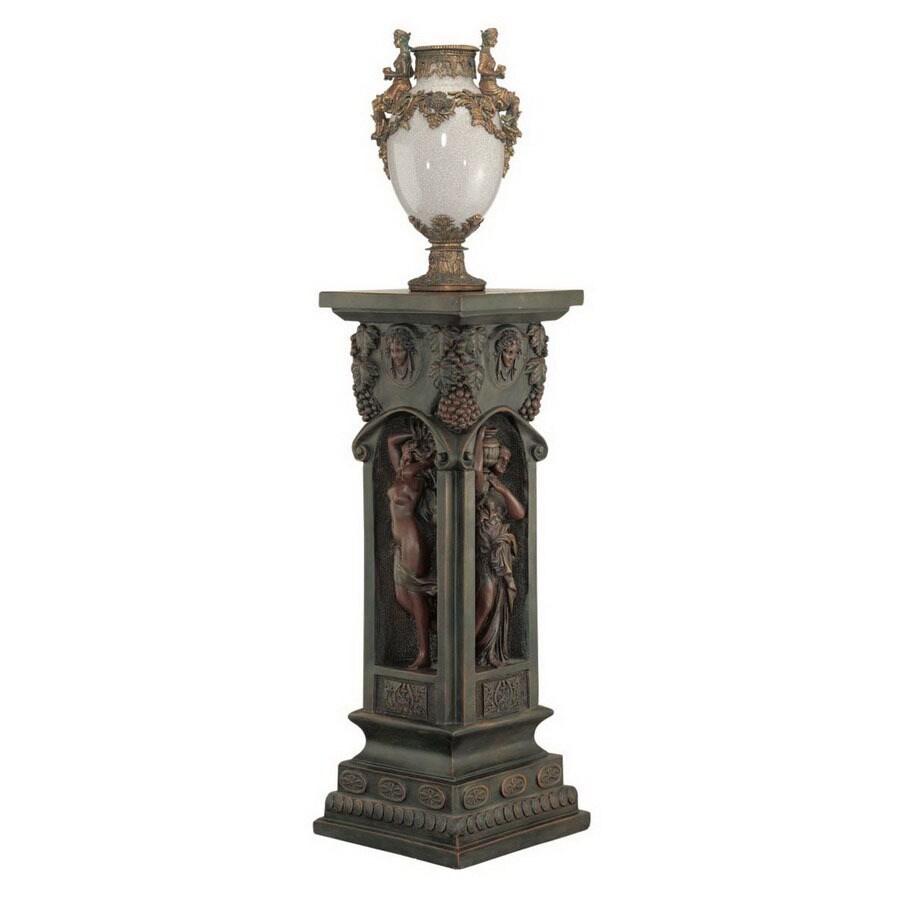 Design Toscano Dark Green/Bronze Square End Table