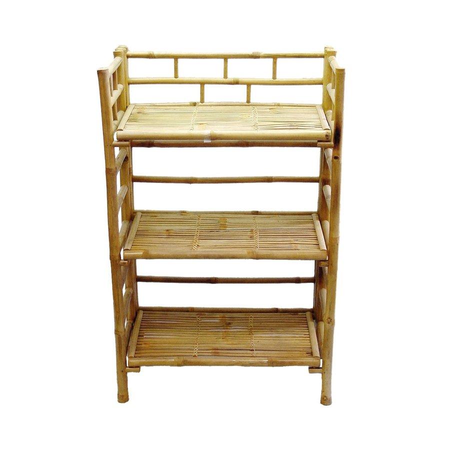 Bamboo 54 Natural Bamboo 24-in W x 41-in H x 15-in D 3-Shelf Bookcase