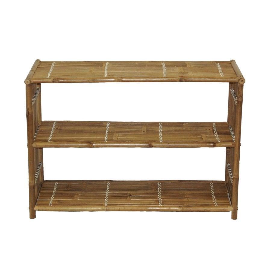 Bamboo 54 Natural Bamboo 36-in W x 25-in H x 15-in D 2-Shelf Bookcase