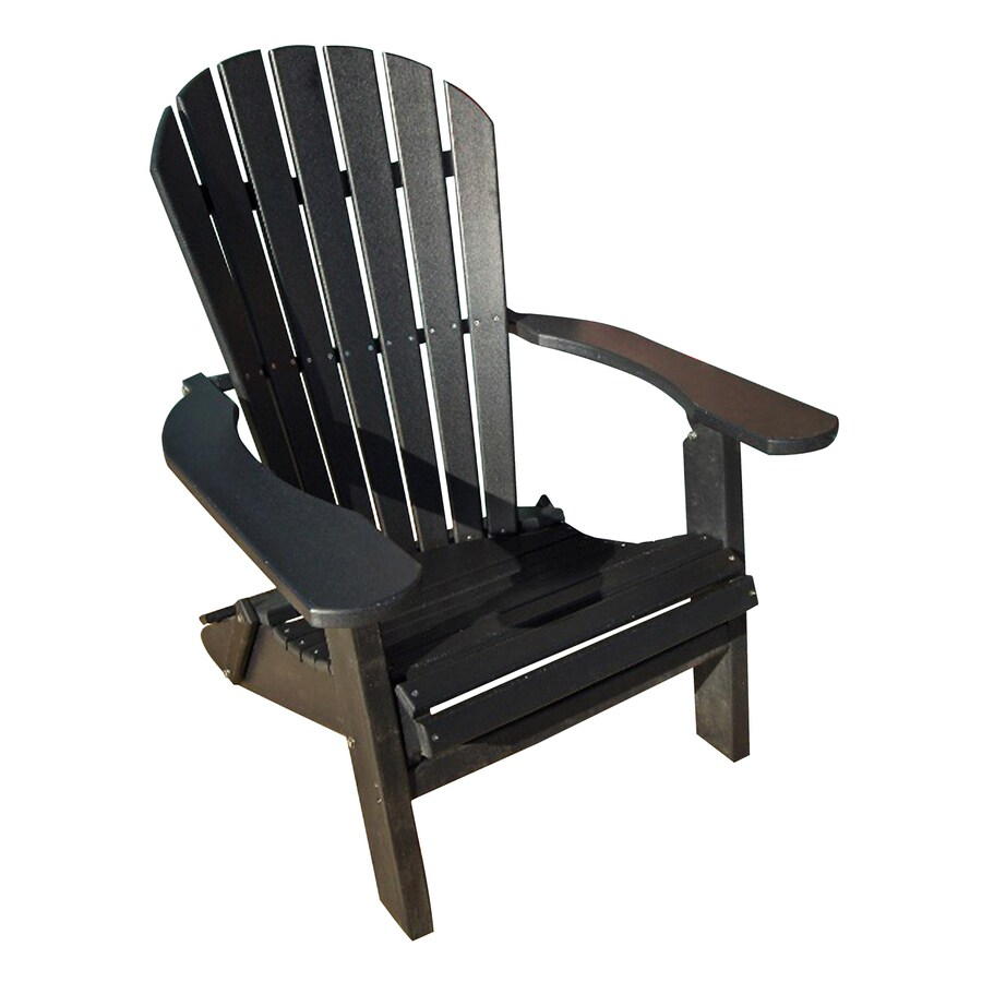 Shop Phat Tommy Black Plastic Folding Patio Adirondack