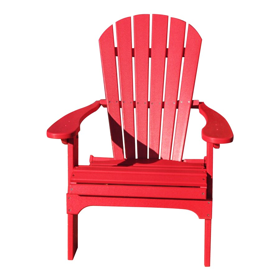 Shop Phat Tommy Fire Engine Red Plastic Folding Patio Adirondack Chair At