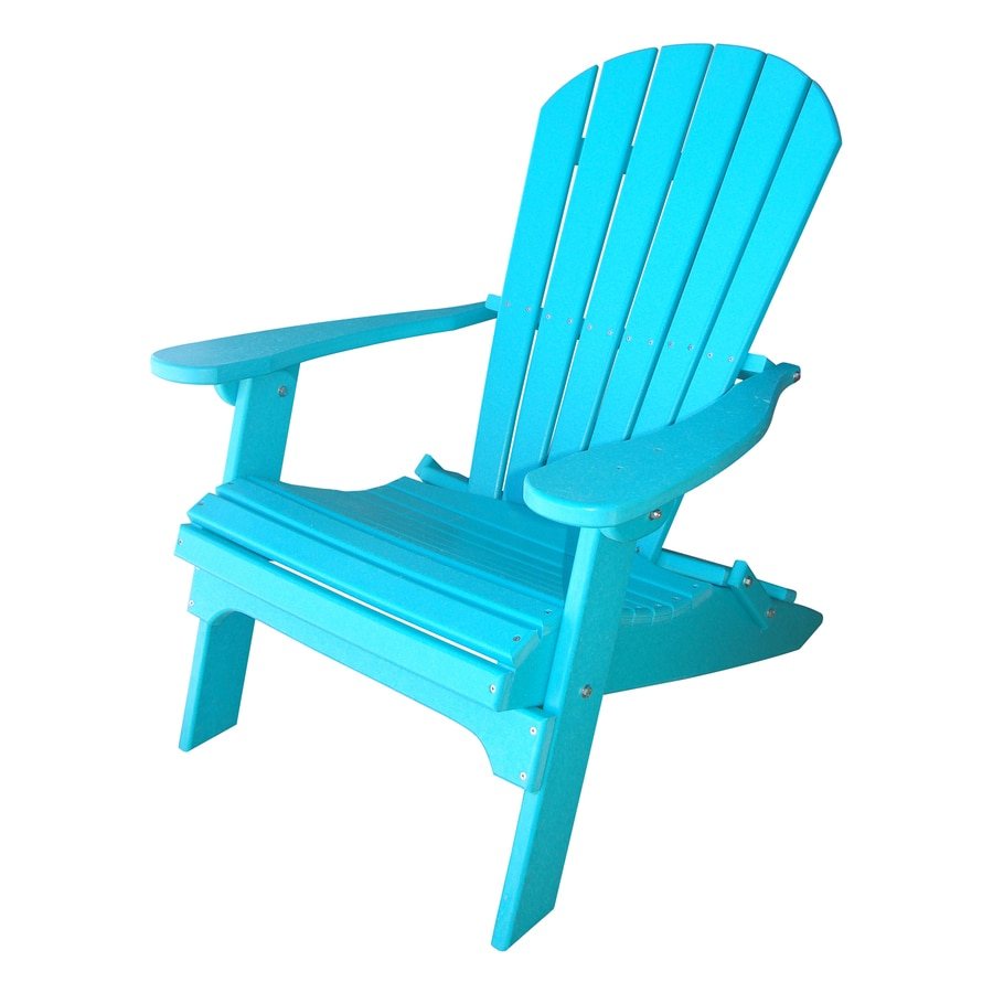 Shop Phat Tommy Teal Plastic Folding Patio Adirondack