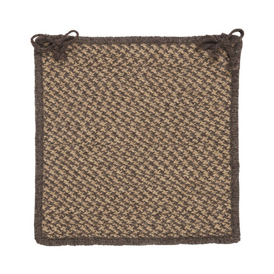 Colonial Mills Natural Wool Houndstooth Caramel Chair Cushion