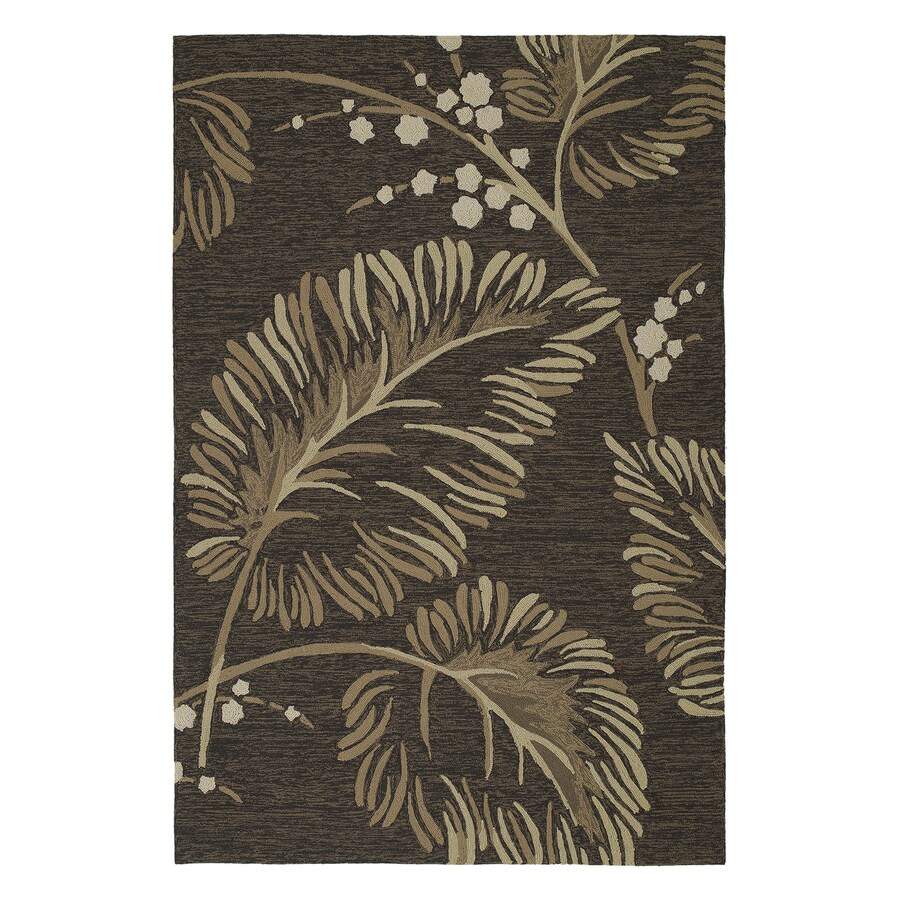 Kaleen Home and Porch Rectangular Brown Floral Accent Rug (Common: 3-ft x 5-ft; Actual: 36-in x 60-in)