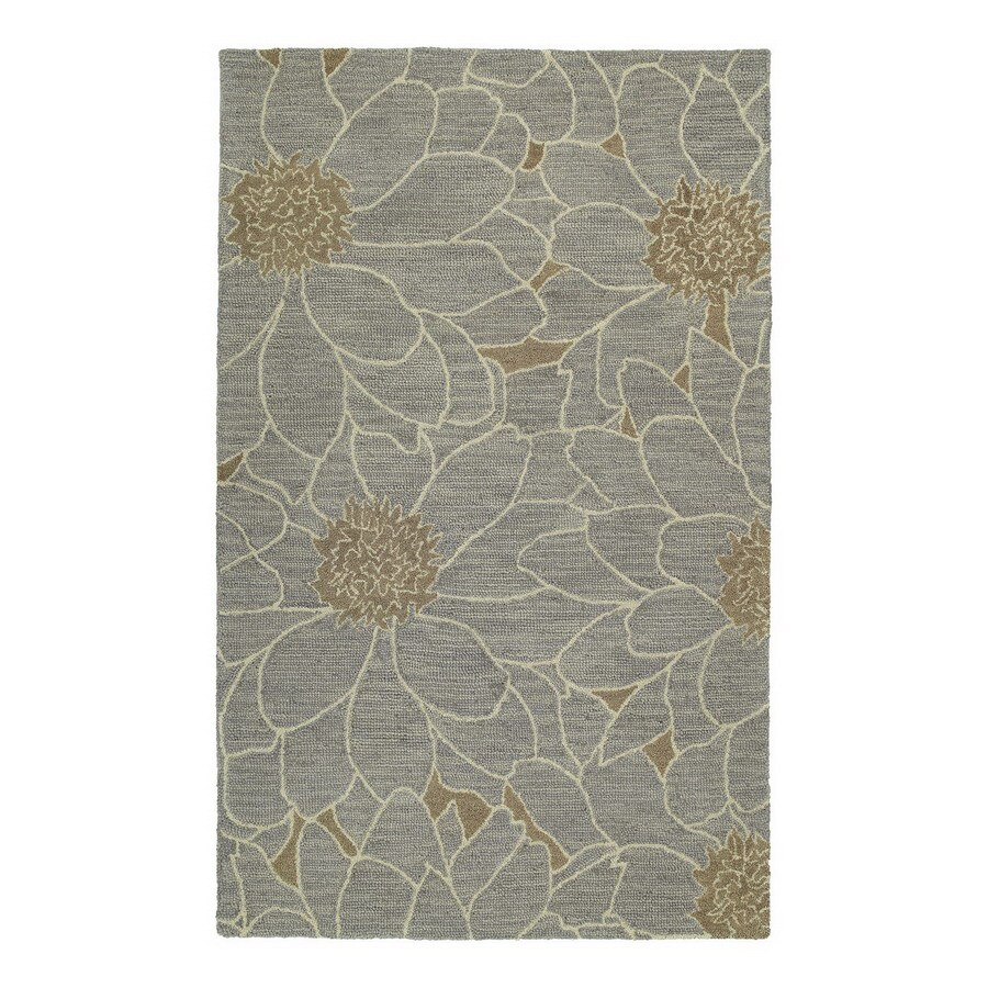 Kaleen Carriage Rectangular Multicolor Floral Wool Accent Rug (Common: 2-ft x 3-ft; Actual: 24-in x 36-in)