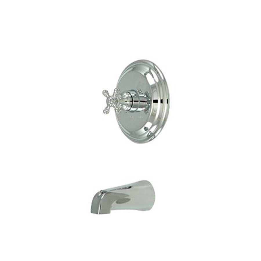 Elements of Design New York Chrome 1-Handle-Handle Fixed Wall Mount Bathtub Faucet
