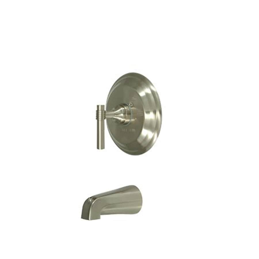 Shop Elements Of Design Milano Satin Nickel 1 Handle Handle Fixed Wall Mount