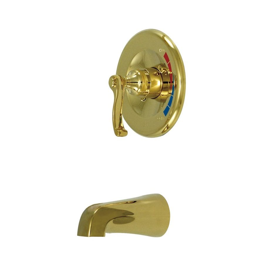 Elements of Design Polished Brass 1-Handle-Handle Fixed Wall Mount Bathtub Faucet
