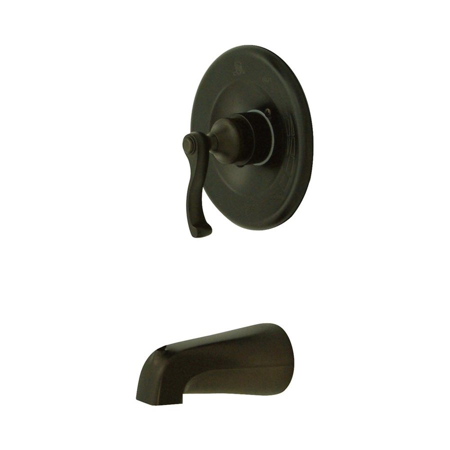 Elements of Design Oil-Rubbed Bronze 1-Handle-Handle Fixed Wall Mount Bathtub Faucet
