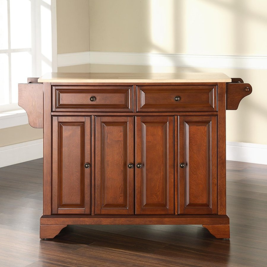Crosley Furniture 52-in L x 18-in W x 36-in H Classic Cherry Kitchen Island