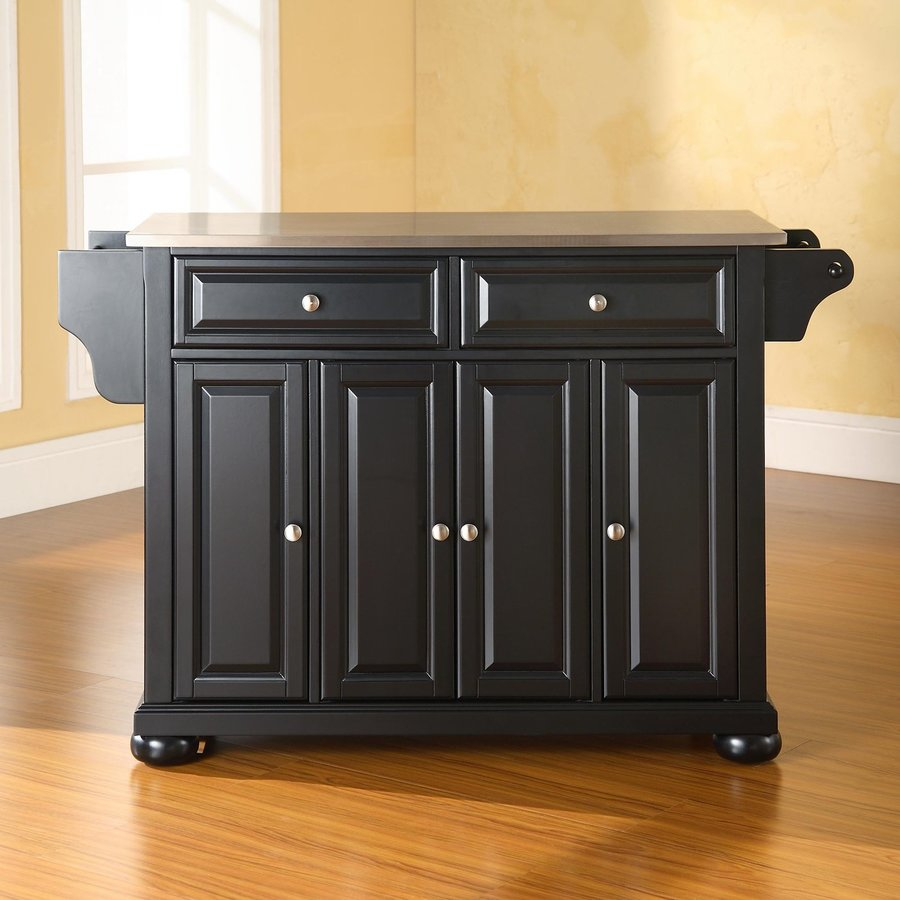 Crosley Furniture 52-in L x 18-in W x 34-in H Black Kitchen Island