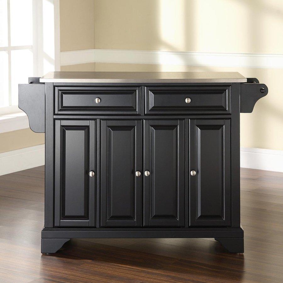 Crosley Furniture 52-in L x 18-in W x 36-in H Black Kitchen Island